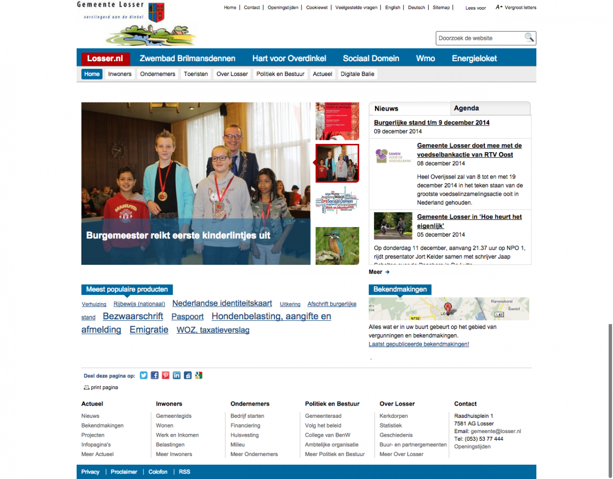 Website Gemeente Losser